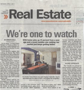 Teresa Bowen Interview News and Observer Real Estate Market