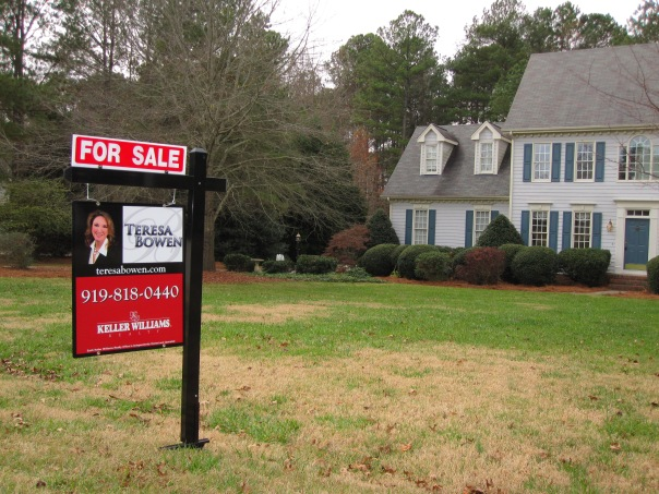 My first yard sign for Keller Williams Cary